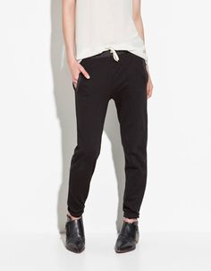 PLUSH TROUSERS - Trousers - TRF - New collection - ZARA