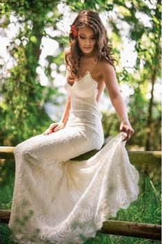 Sitting pretty in the Princeville Gown from the Katie May Collection.