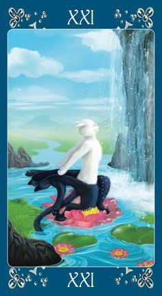 Black Cats Tarot - The World @Goh Sijin woah! I saw 'queen of cups' followed almost immediately by world on pinterest! LOL