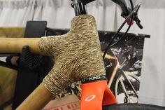 A hemp lug on a bamboo bike made by Calfee Design
