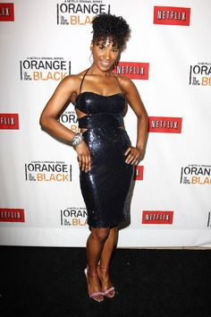 Vicky Jeudy (Janae Watson) at the Netflix Presents 'Orange is the New Black' premiere in NYC. #OITNB