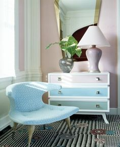 Update a chest of drawers by painting each drawer in a different pastel shade