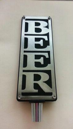BEER Metal Tap Handle available now at www.etsy.com/shop/Brewlicious Custom Beer Tap Handles Beer Brewing Process, Beer Brewing Kits, Brewing Recipes, Home Brewing, Brewing Equipment, Equipment For Sale, Beer Taps, Beer Gifts, How To Make Beer