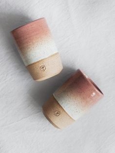 Speckled Tall Mug - Salmon & White