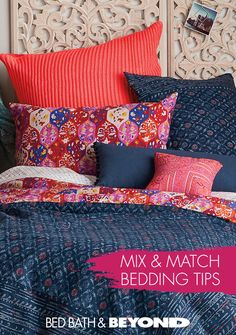 Mixing patterns and textures can really make the room pop. But if it's too busy, it can look overwhelming. Want to be sure you're doing it right? Check out these mix and match bedding tips!