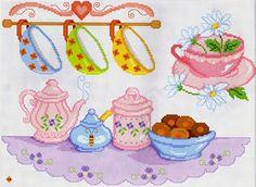 Pink teapot & cups from Sorprese D'Inverno 27 Gallery.ru / Фото #15 - MANI DI FATA 27 - Mongia