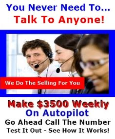 http://www.sokule.com/sk/23638/Baltimore-Work-Home-Joint-Venture-Affiliate-Program-Call-602-800-6770.html Baltimore Work From Home Joint Venture Affiliate Program Call 602-800-6770 All YOU Do Is Advertise A Phone Number On Free Advertising Locations On the Internet Making $3,500 Weekly No Investment Required Other Than $10 For Your Sizzle Call # - I Pay YOU... You Don't Pay Me - I Do The Selling For You - You Never Need To Talk To Anyone!