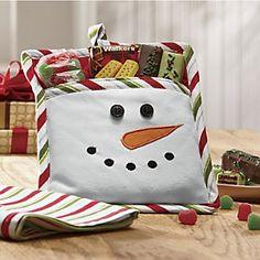 Snowman Potholder Gift