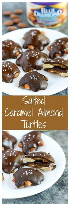 Salted Caramel Almond Turtles