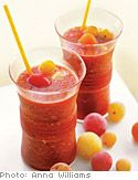 Frozen-Cherry-Tomato Bloody Mary-An ice-cold Bloody Mary is always satisfying—until the ice melts and dilutes the drink. To solve that problem, freeze cherry tomatoes and use them in place of ice cubes.