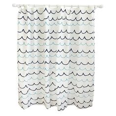 Wave Blue Shower Curtain - Pillowfort™ : Target