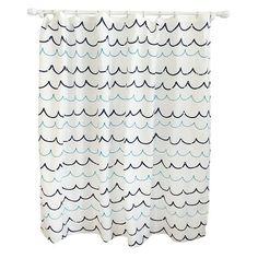 Wave Blue Shower Curtain - Pillowfort™ : Target