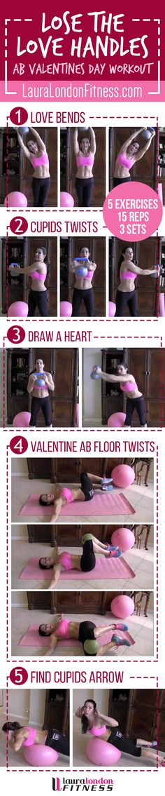 Lose the Love Handles, muffin top what ever you call that extra weight around your middle. Lets crush it with this workout. Share and Re-PIn too. Full video here: www.youtube.com/... #fitness #homeworkouts #lauralondonfitness #fitness #kettlebell