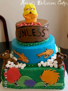 - the lorax themed cake I made =) everything is edible