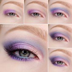Make up. - ZOEVA Retro Future palette / step by step