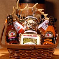 Gift basket for the Hunter in your life. Rich would love this! But I would get a lot of different things because he does not like spices on his meat. Maybe scent blocker spray and deer feed? good thinkin' Lincoln when it comes to Christmas!