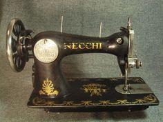 Old Antique Italian Sewing Machine 76726 Vittorio Necchi Pavia Italia 5525 | eBay