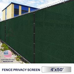 Windscreen4less Commercial Grade 4x50 Green Fence Screen Privacy Screen w Brass Grommets  3 Years Warranty Custom Sizes Available >>> See this great product.