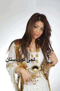 Kurdish dress, love the white And gold
