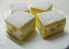 Barackos-tejfölös sütemény recept foto Eastern European Recipes, Torte Cake, Hungarian Recipes, Sponge Cake, Winter Food, Vitamins, Cheesecake, Food And Drink, Peach