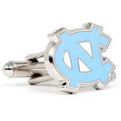 North Carolina Tar Heels NCAA Logod Executive Cufflinks w/Jewelry Box