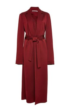 Hammered Cotton Tailored Robe Coat by Rosetta Getty for Preorder on Moda Operandi