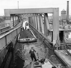 Barton Swing Aqueduct, Bridgewater Canal, Trafford, Greater Manchester by Eric de Mare Bridgewater Canal, Images Of England, Canal Boat, Canal Barge, The Guardian, Old Photos, Vintage Photos, Birmingham