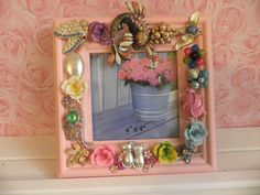 Rhinestone Creatures Jeweled Picture Frame by MyInnerPrincess, $54.95