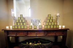 Boxed wedding favor display