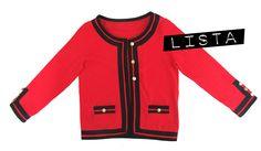 chaqueta chanel roja diy Cómo achanelar un cárdigan básico. #DIY