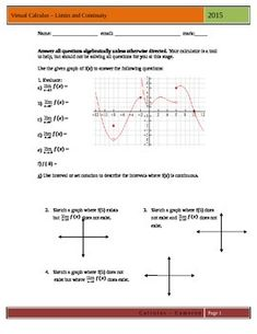 Worksheets Grade 12 Work Sheet On Limit And Continity pdf calculus limits in this free worksheet first assignment on and continuity a high school classroom students are expected