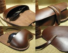 Hand Stitched Vintage Leather Glasses Case by FocusmanLeather, $39.99