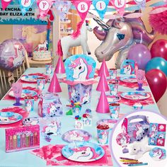 Enchanted Unicorn Party Packs, 64550  Jenny This IS PERFECT!!! Its her favorite colors!!!