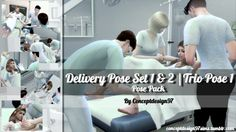 Delivery Pose Set 1 & 2 + Trio Pose 1 + Blanket at ConceptDesign97 via Sims 4 Updates