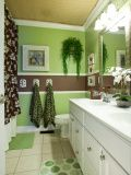 Green and Brown Bathroom Decor . 24 Lovely Green and Brown Bathroom Decor . Brown Bathroom Decor, Bathroom Kids, Bath Decor, Small Bathroom, Bathroom Green, John Deere Kitchen, Botanical Bathroom, Yellow Bathrooms, Living Room Green