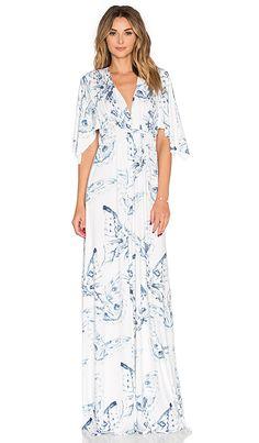 Rachel Pally Long Caftan Dress in Eclipse Mariposa | REVOLVE