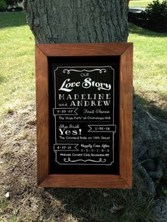 Personalized Framed Chalkboard Short and Sweet by TimberAndType