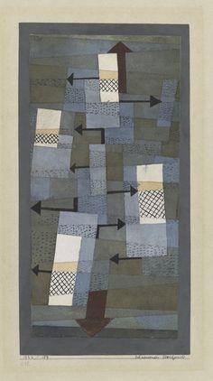 Paul Klee (1879-1940) Vanaf 1921 gaf Paul Klee les aan het Bauhaus in Weimar. Op initiatief van Galka Scheyer ontstond in 1924 de kunstenaarsgroep Blaue Vier, die naast Paul Klee bestond uit de kunstenaars Wassily Kandinsky, Lyonel Feininger en Alexej von Jawlensky. Het viertal exposeerde vooral in de Verenigde Staten van Amerika. Paul Klee ging steeds kleurrijker schilderen, en maakte ook een stap in de richting van het abstracte.