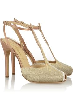 Charlotte Olympia | Mae West woven and satin sandals