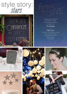 There's nothing more romantic than a night sky filled with sparkling stars, which is why a star theme is absolutely perfect for your nuptials!