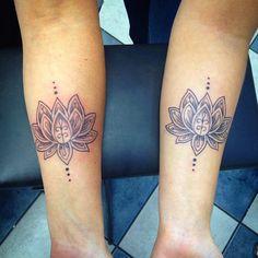 Mother Daughter Lotus Tattoos