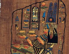 8x12 Papyrus Art - Egyptian Hand Painted Signed Genuine Papyrus Painting - Pharaonic Vintage Collectible - Home Or Office Decor (PAP913-005)