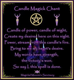 candle magic chant