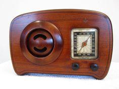 "Vintage 1940s Old Depression Era Emerson Antique "" Ingraham "" Art Deco Radio | eBay"