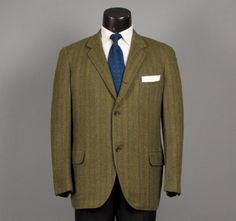 Vintage 1950s Mens Sport Coat  Shades of Green by jauntyrooster