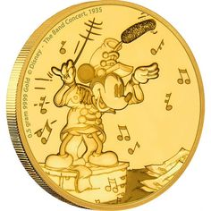"2,5 Dollar Gold Micky Maus - ""The Band Concert"" PP"