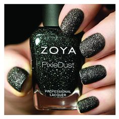 Love this matte black sparky nail polish!! Zoya Nail Polish Professional Lacquer in Dahlia ZP656