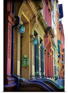 Rainbow Row of Doorways