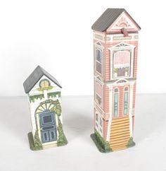Decorative Wooden Storage Houses : EBTH