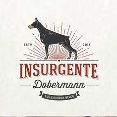 Create a creative and impactful logo design for a Dobermann Breeder The Dog Star, Dog Design, Flat Design, Loki, Joke Of The Day, Dog Logo, Animal Logo, Graphic Design Inspiration, Portfolio Design